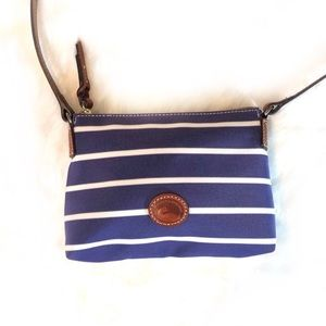 Dooney & Bourke Blue & White Nylon Lined Handbag